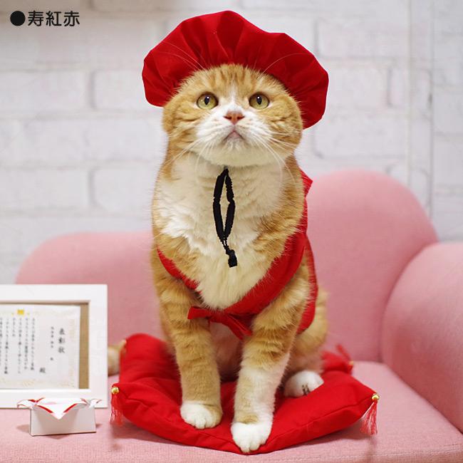 長寿服 寿紅赤