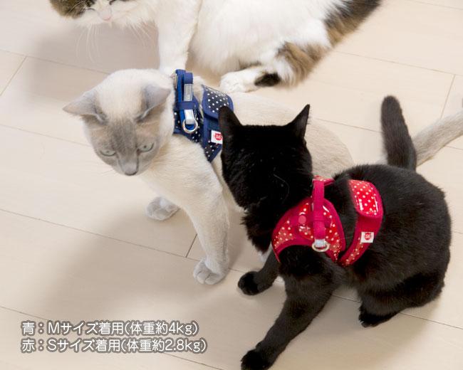 ゴロにゃん オリジナル猫用ハーネス ダブルブロックタイプ[特許取得済] 安心安全の純国産 ラミネート加工の猫ハーネス 説明