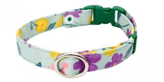 猫用首輪 デイリー猫首輪EX ハーネスとおそろい花柄