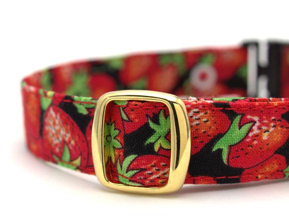 デイリー猫用首輪15ミリ幅 まっ赤な苺