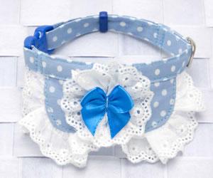 水玉白×ライトブルー