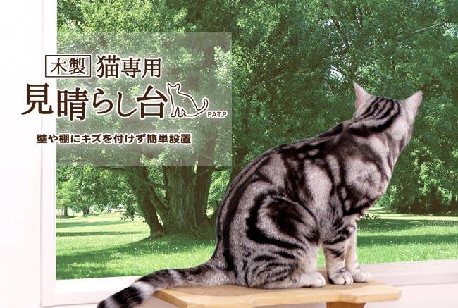 木製 猫専用見晴らし台 キャティーマンハヤシ