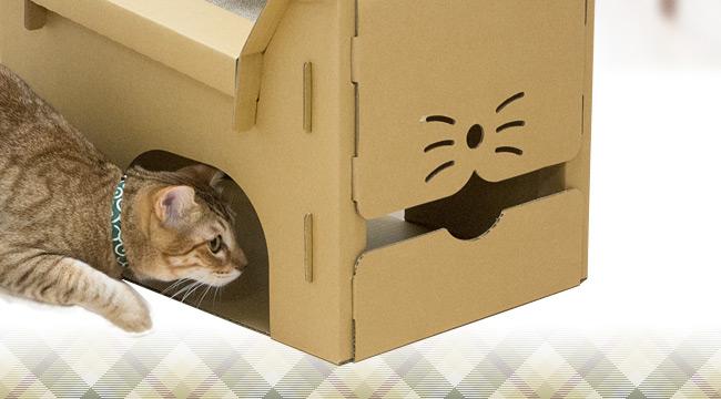 ゴロにゃんオリジナル段ボール製キャットハウス 猫箱 ねこばこ
