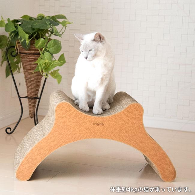 ペッツルート 猫用爪とぎ にゃんこのカウチ爪とぎベッド 猫画像