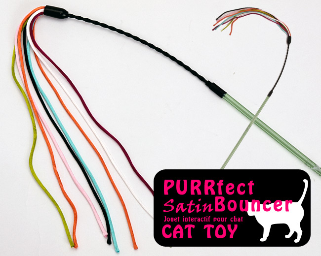 PURRFECT SATIN BOUNCER CAT TOY