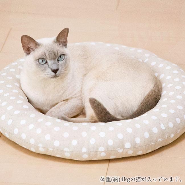 猫用ベッドゴロにゃんオリジナル どこでもベッド サークル 円型 猫写真