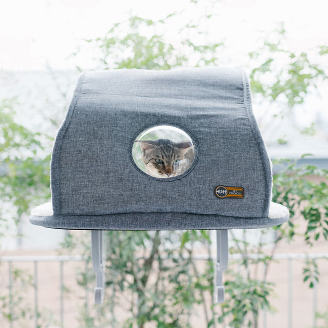K&H Universal Mount Kitty Sill with  Hood 猫用 ウィンドウベッド