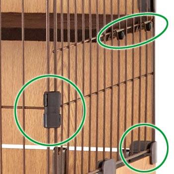 ペットケージ スリムキャットサークル 猫用ケージ ペット用サークル