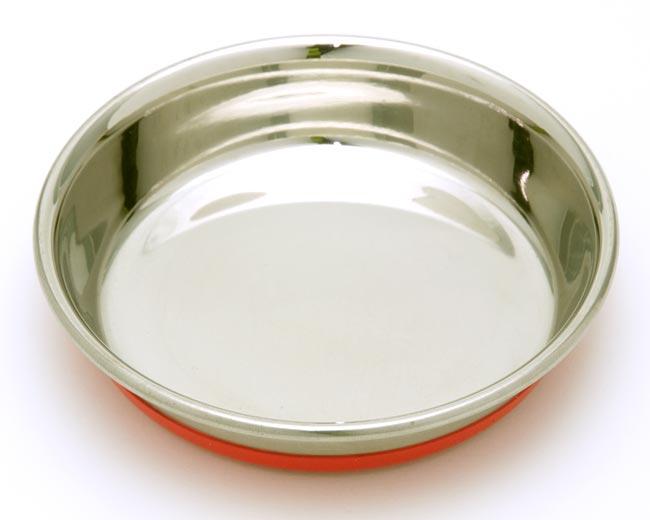 ステンレスゴム付食器 11cm 猫 GSC-105