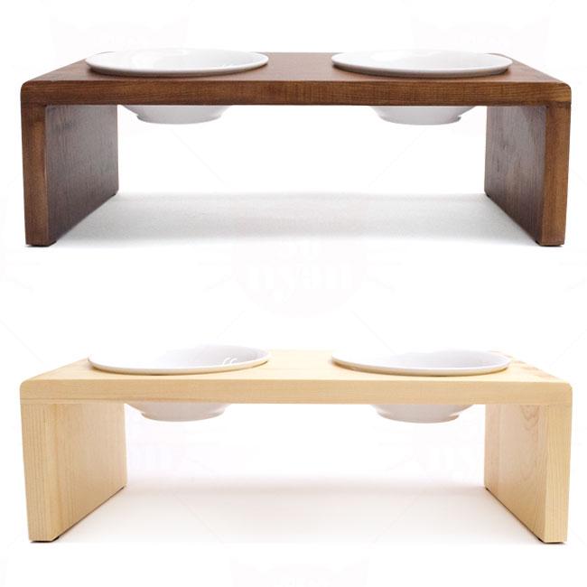 ねこちゃんの食卓ラック「nyan-nyam(にゃんにゃむ)」陶器のボウル2個付き