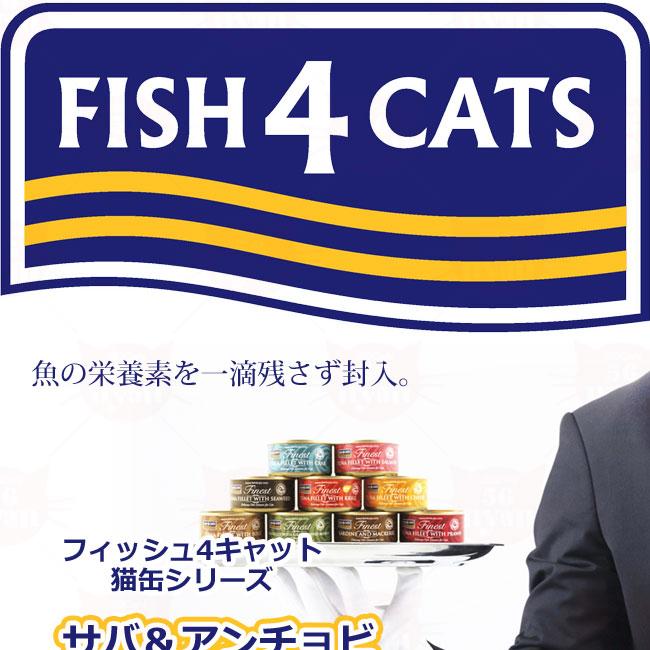 フィッシュ4 キャット 猫缶シリーズ サバ&アンチョビ 70g