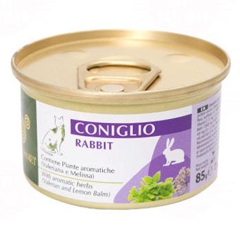 エクイリブリア ウェット 猫缶 キャットフード ウサギ&ハーブ 85g