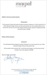 エクイリブリア MARPET社発行の証明書