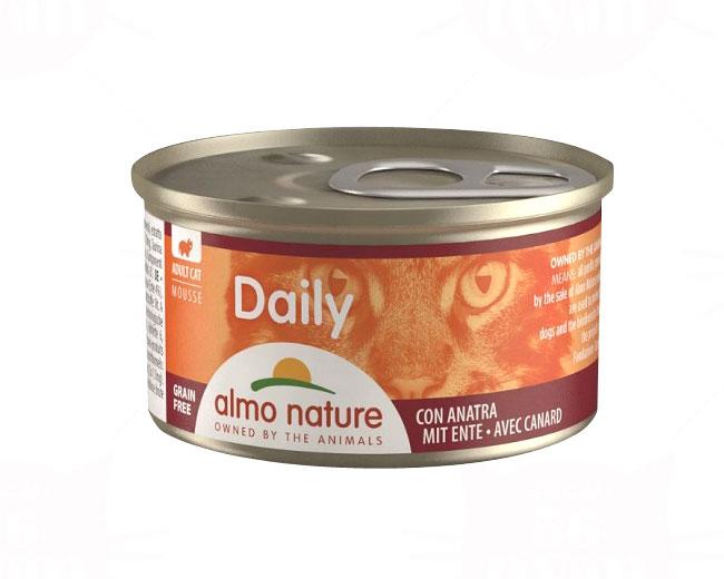 アルモネイチャー ウェット ウェットフード デイリーメニューダック入りお肉のムース 85g 缶詰タイプ(156)
