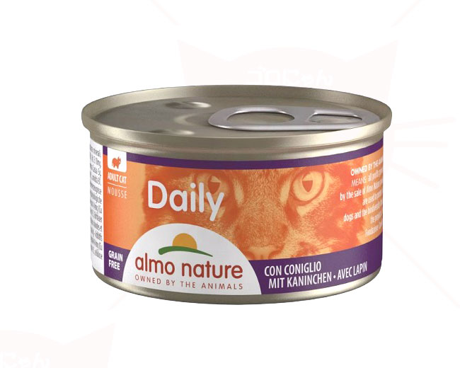 アルモネイチャー ウェット ウェットフード デイリーメニューラビット入りお肉のムース 85g 缶詰タイプ(157)