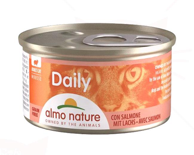 アルモネイチャー ウェット ウェットフード デイリーメニューサーモン入りお肉のムース 85g 缶詰タイプ(158)