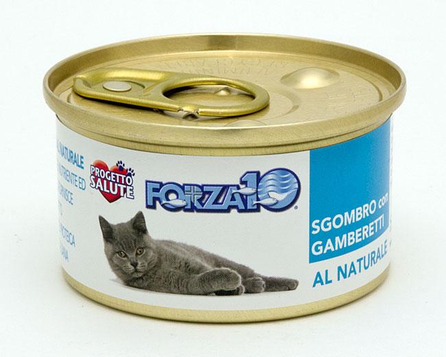 プレミアムフォルツァ10(フォルツァディエチ) ウェットフード(猫缶) ナチュラルグルメシリーズ 風味豊かなサバと小エビのグルメ缶 75g (2528)