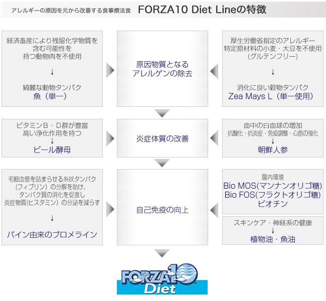 フォルツァ10(フォルツァディエチ) ダイエットシリーズの特徴