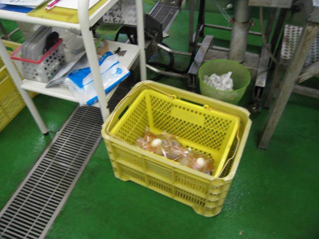レトルトができるまで 5. 充填室から送られてきたレトルトパウチは、X線を通して異物が混入していないか厳しくチェックされます。