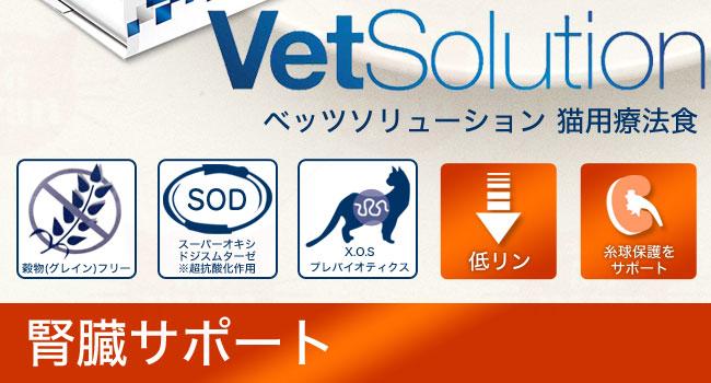 Monge モンジ VetSolution ベッツソリューション 猫用 腎臓サポート 療法食 ケアフード 成猫用