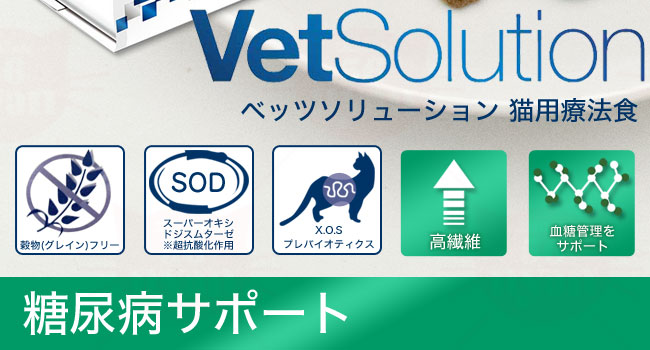 Monge モンジ VetSolution ベッツソリューション 猫用 糖尿病サポート 療法食 ケアフード 成猫用