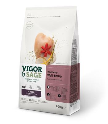 VIGOR&SAGE ビゴー&セージ 仔猫用 ウルフベリー ウェルビーイング