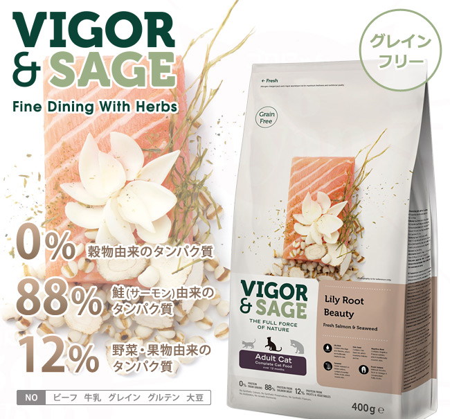 VIGOR&SAGE ビゴー&セイジ 成猫用 リリールート ビューティ